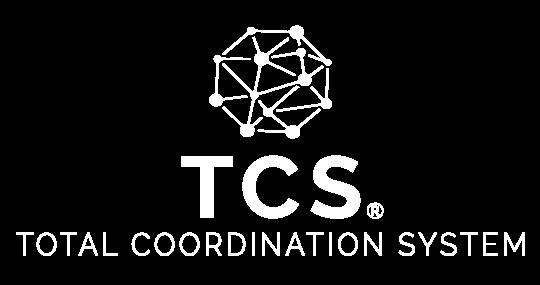 Das TCS Logo in weiß